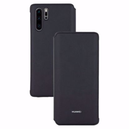 Picture of Huawei Huawei Wallet Folio Cover Case for Huawei P30 Pro in Black